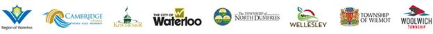 Logos of Waterloo Region municipalities