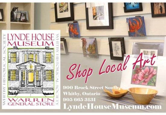 Shop local art at Lynde House Museum, 900 Brock Street South in Whitby.