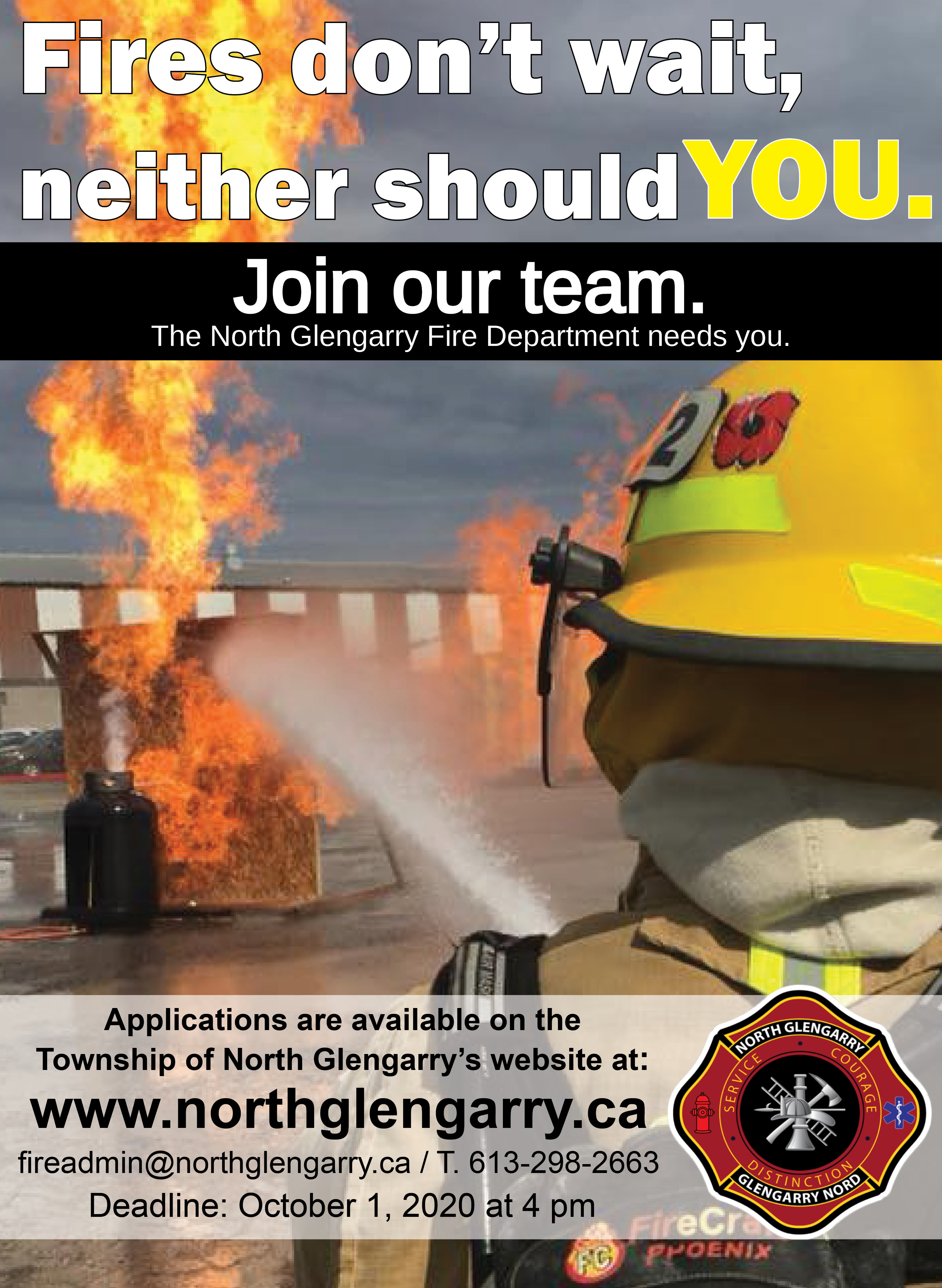 The North Glengarry Fire Department is recruiting