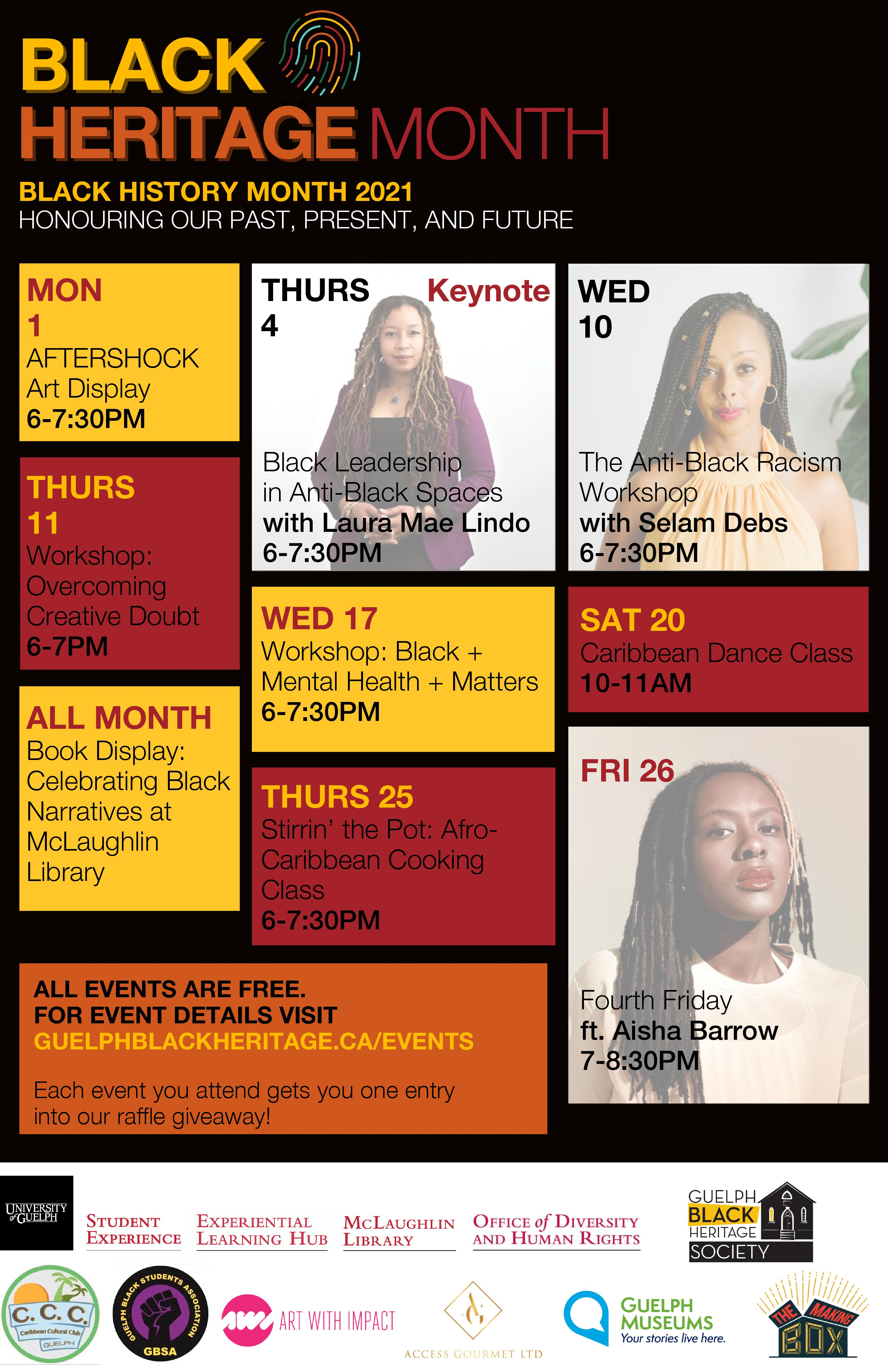 GBHS Black Heritage Month Events