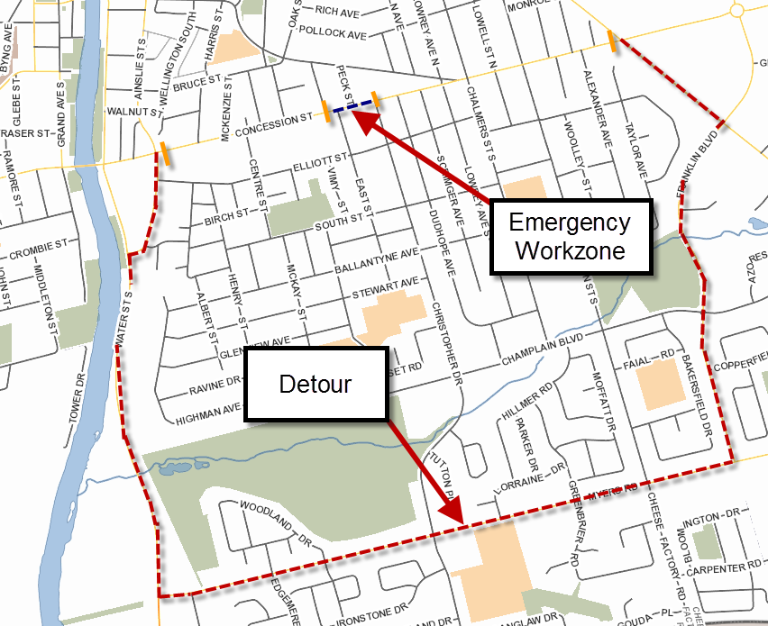 Concession St Detour
