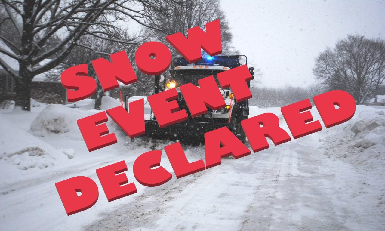 Snow Event Declared
