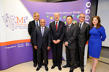 Altaf and guests at Mackenzie Innovation Institute (Mi2) event