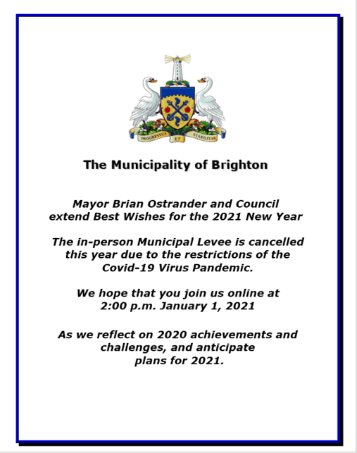 New Year's Levee Information