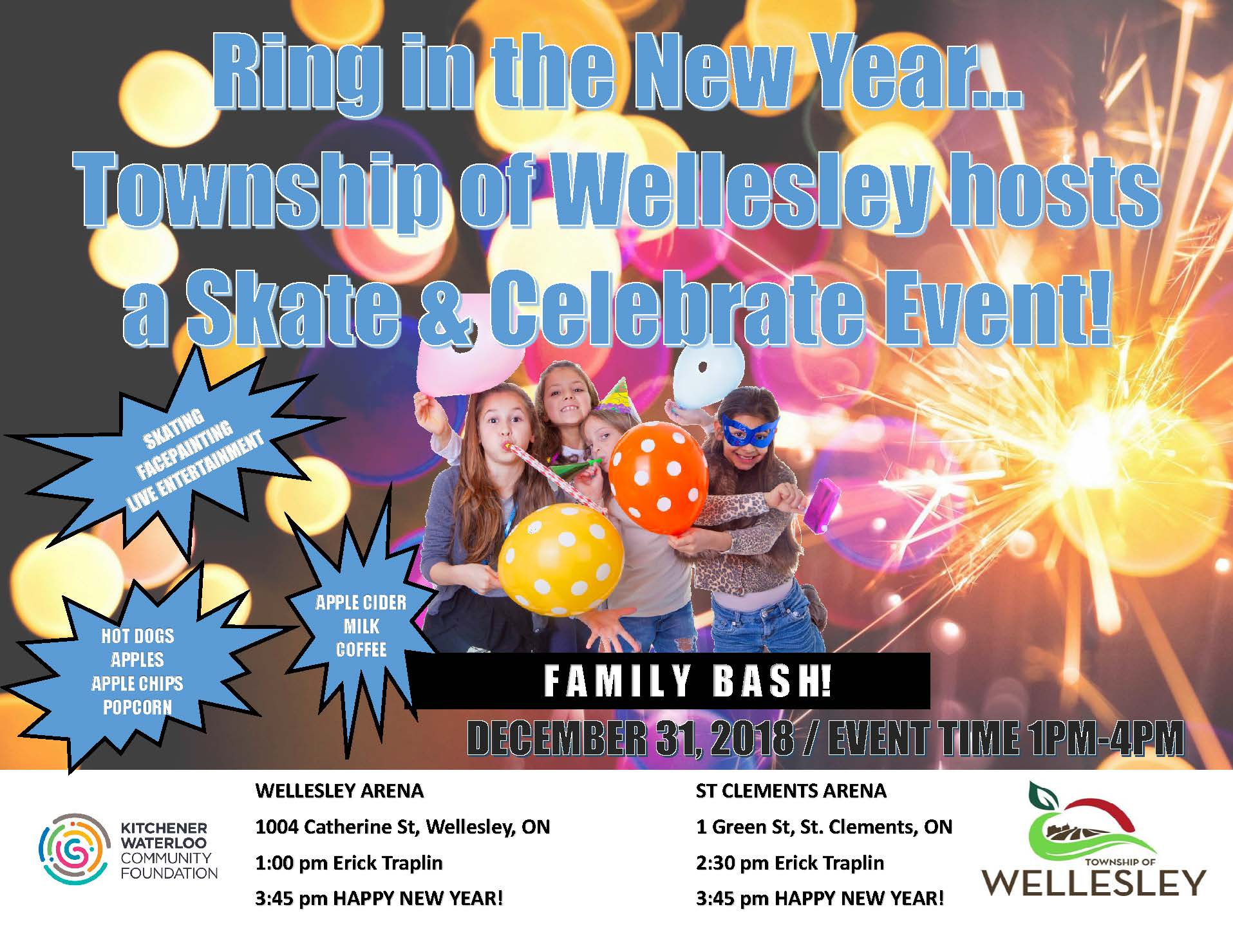 Township of Wellesley Skate and Celebrate Flyer