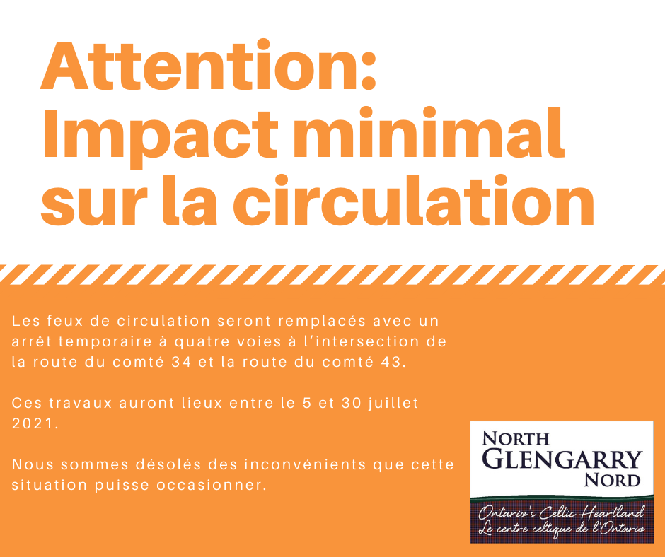Attention: Impact minimal sur la circulation