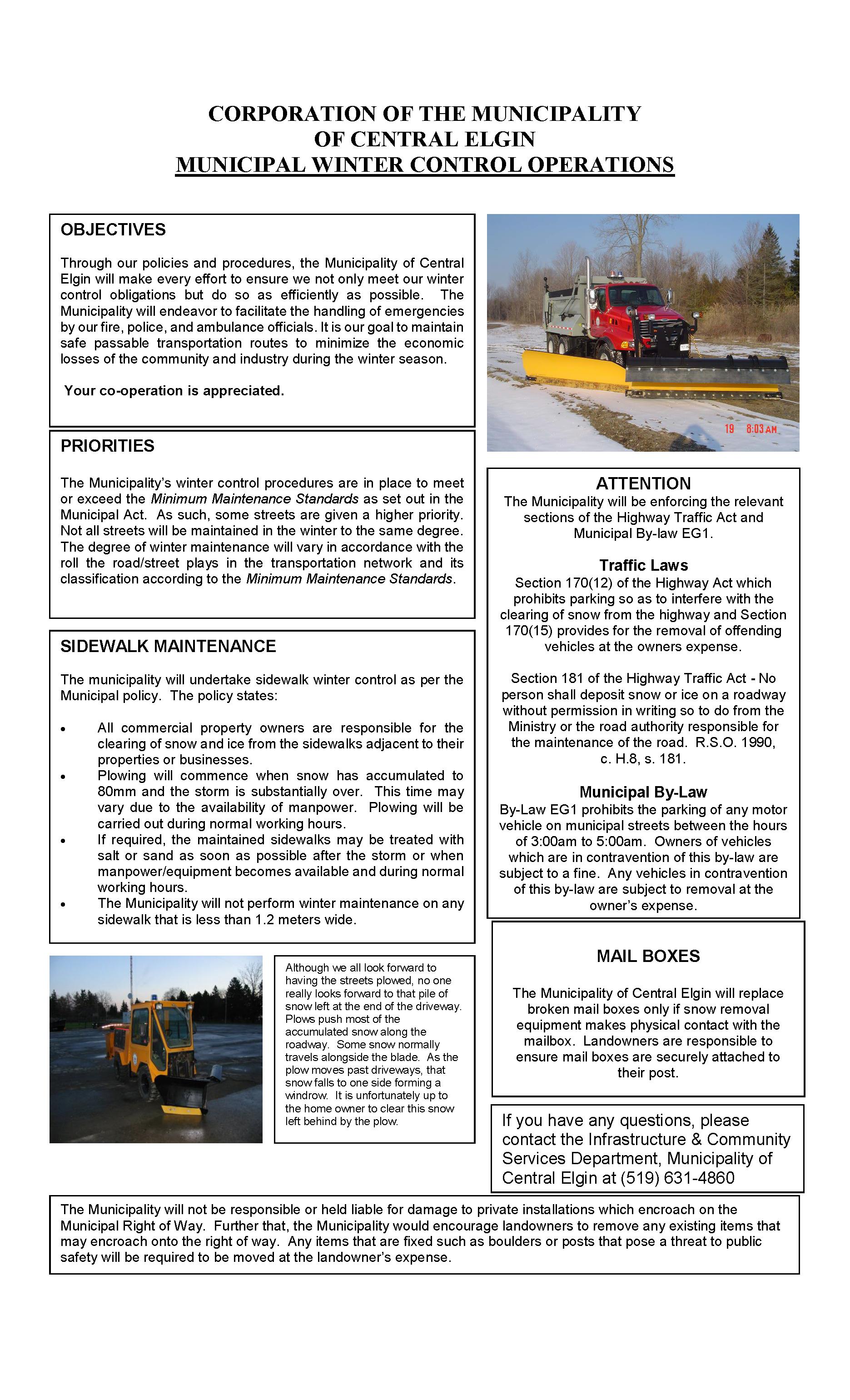 Winter Control Advertisement 2020