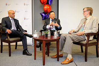 Interview with Altaf on Stage during Mackenzie Innovation Institute (Mi2) event