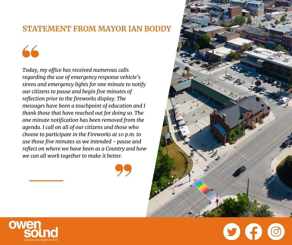 Mayor Boddy Statement