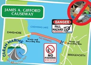 James A Gifford Causeway Map