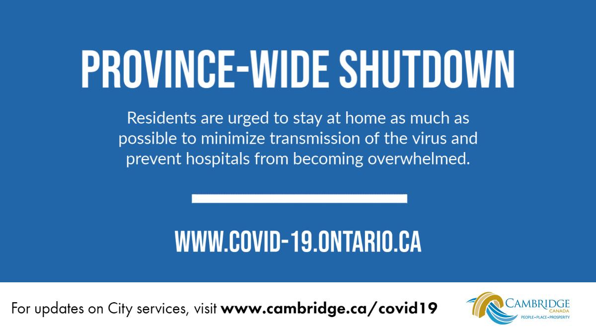 Province-wide shutdown
