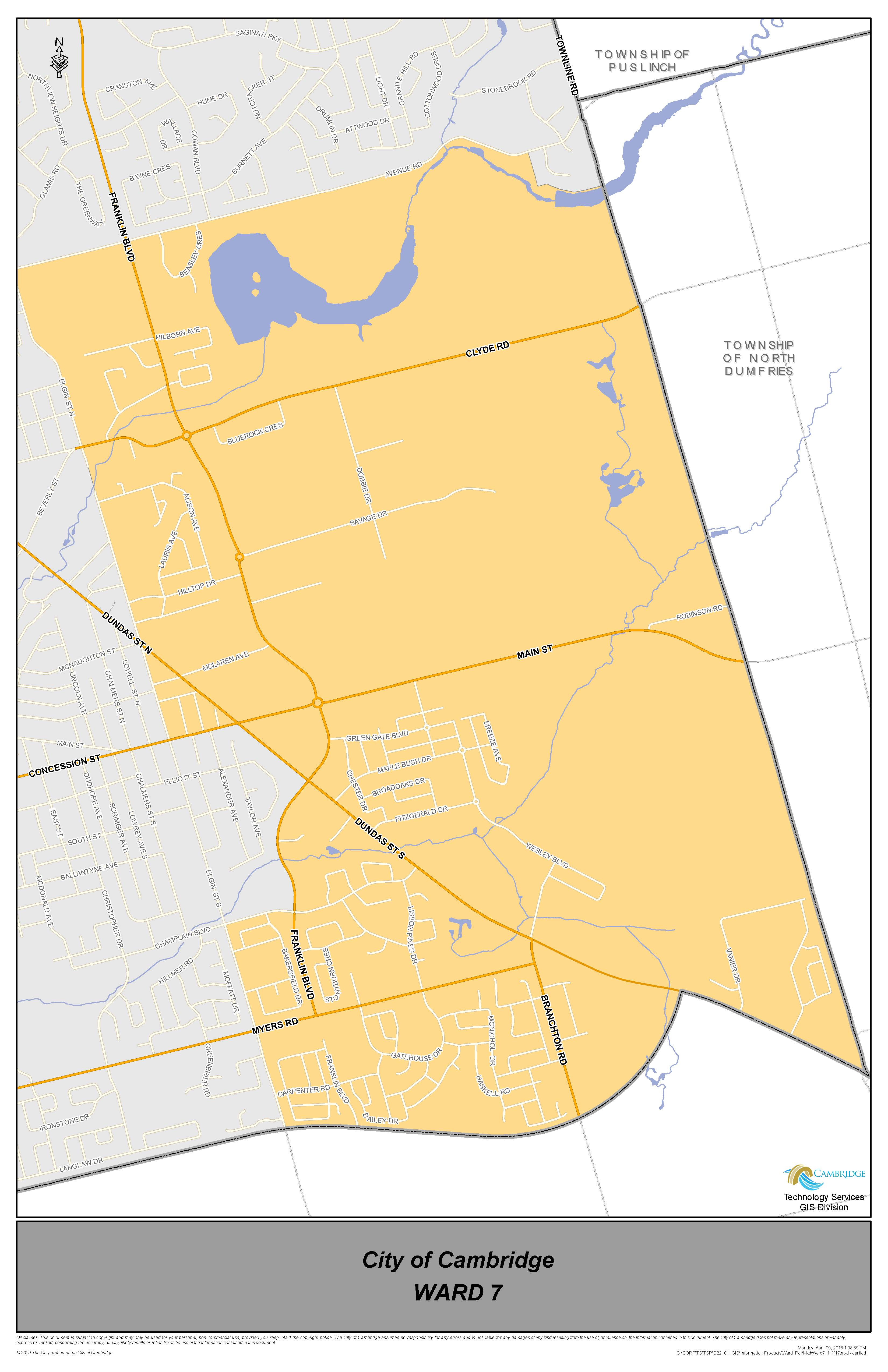 Ward 7 Map