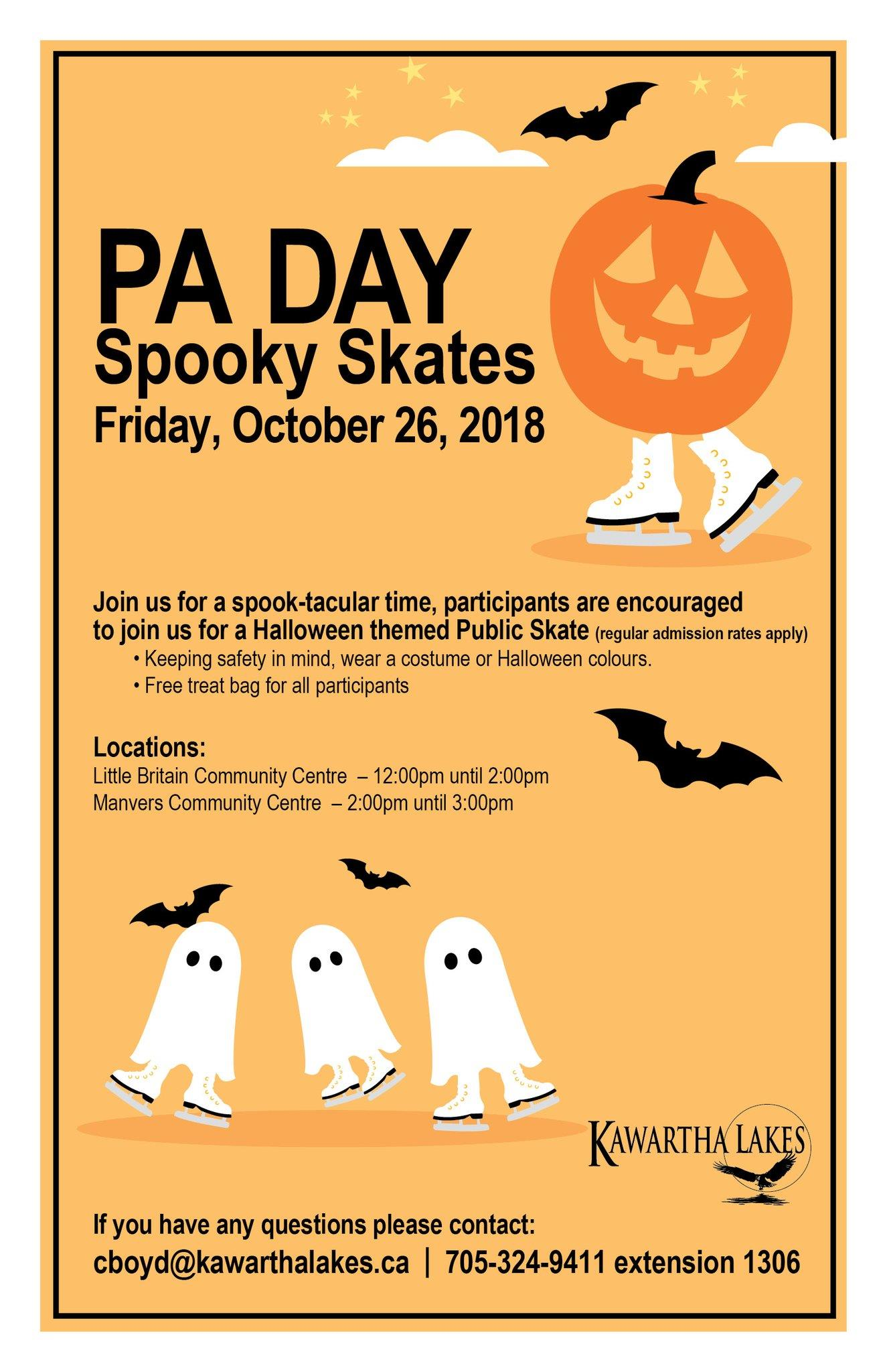 PA Day Spooky Skates Poster