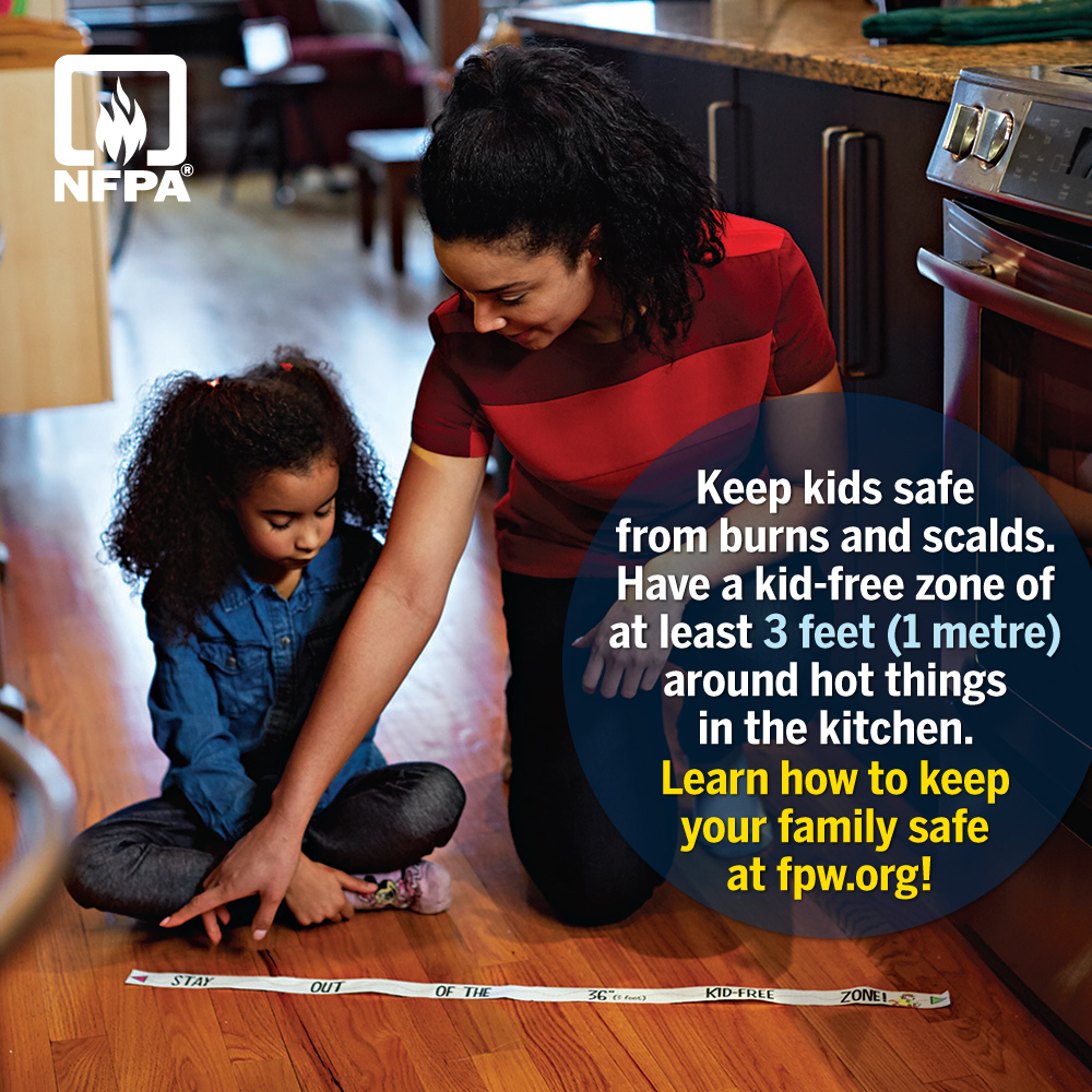 Fire Prevention Week - Kid-Free Safety Zones