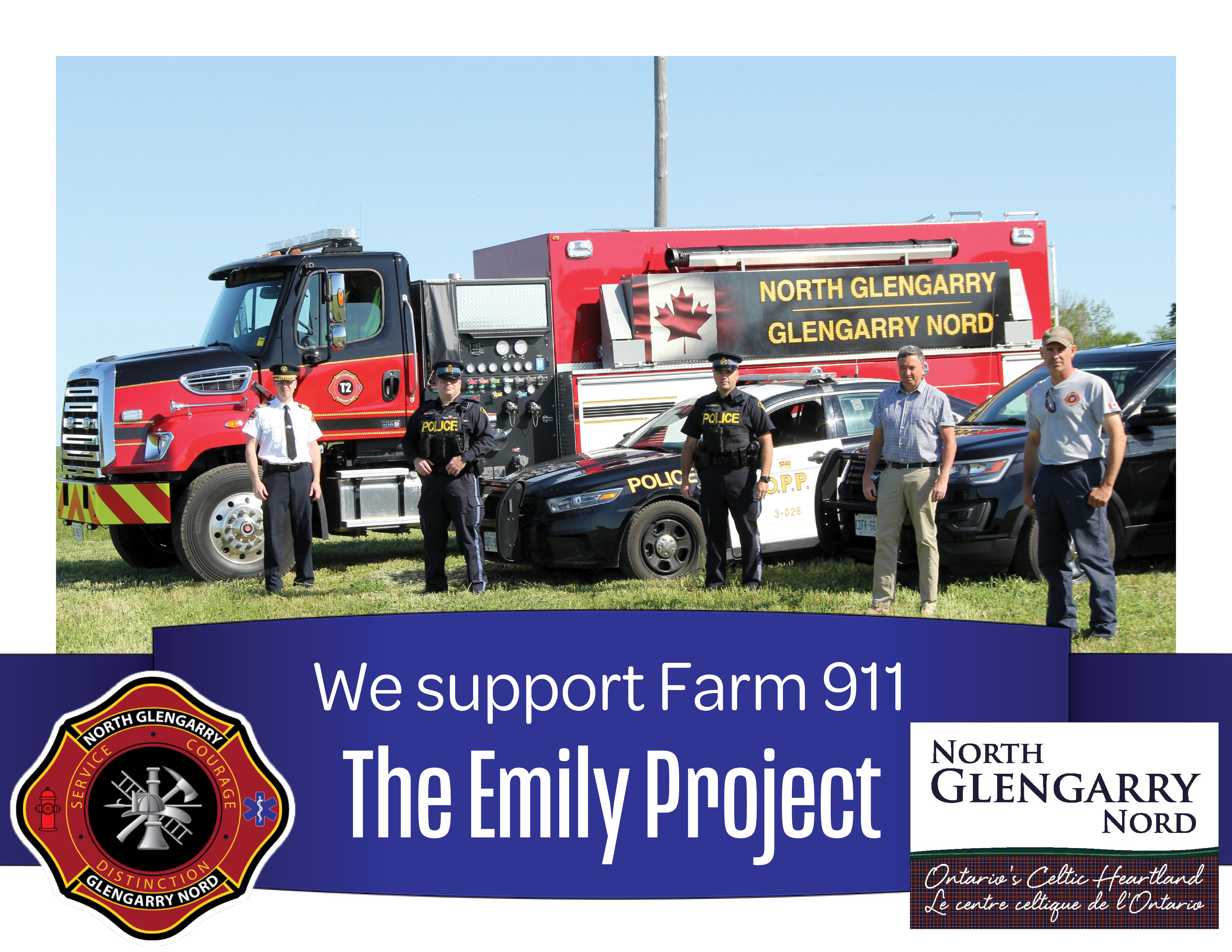 North Glengarry supports Farm 911 - The Emily Project