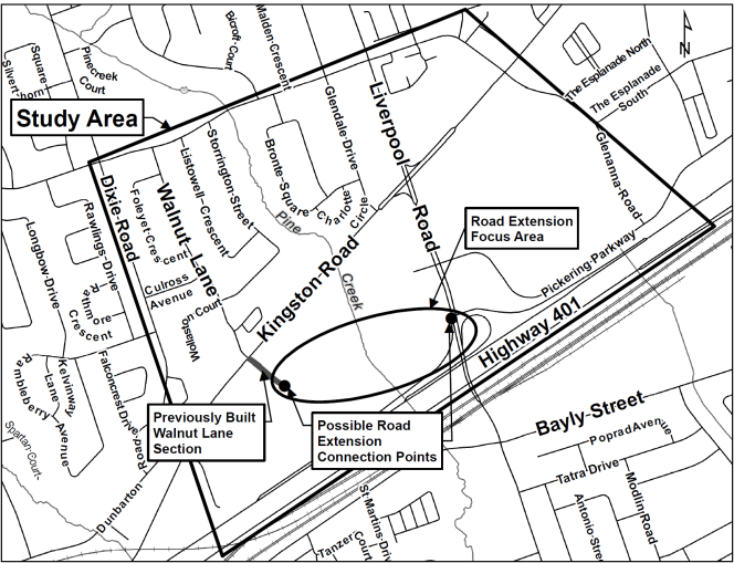 Study Area Map - Walnut Lane Extension