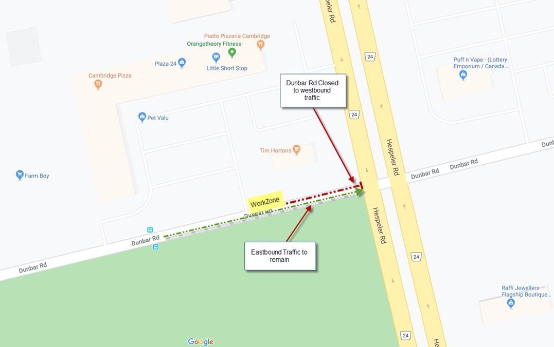 Dunbar lane restriction