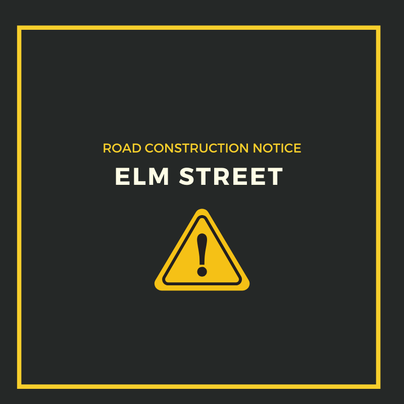 elm street road construction_ Facebook