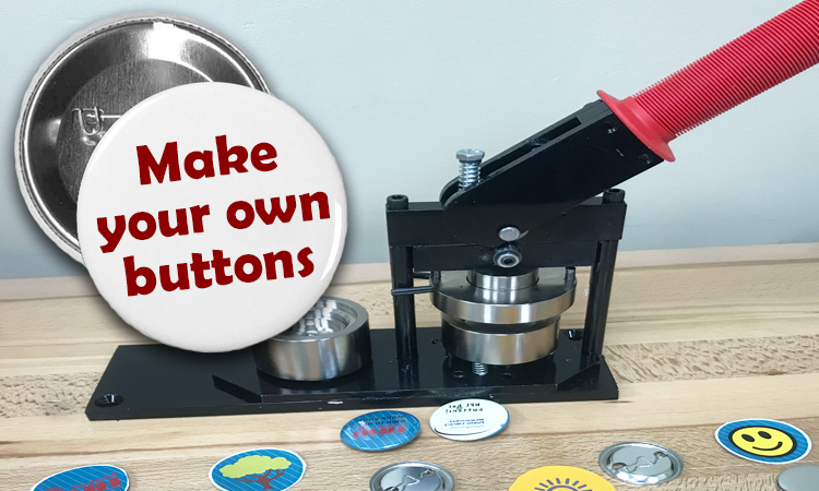 button maker and buttons