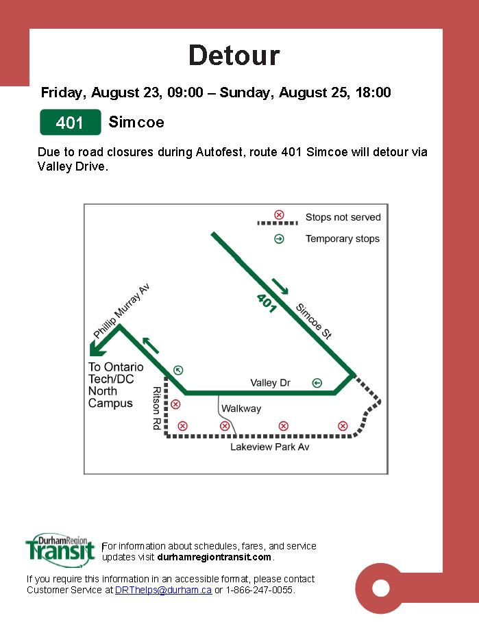 Autofest - detour notice