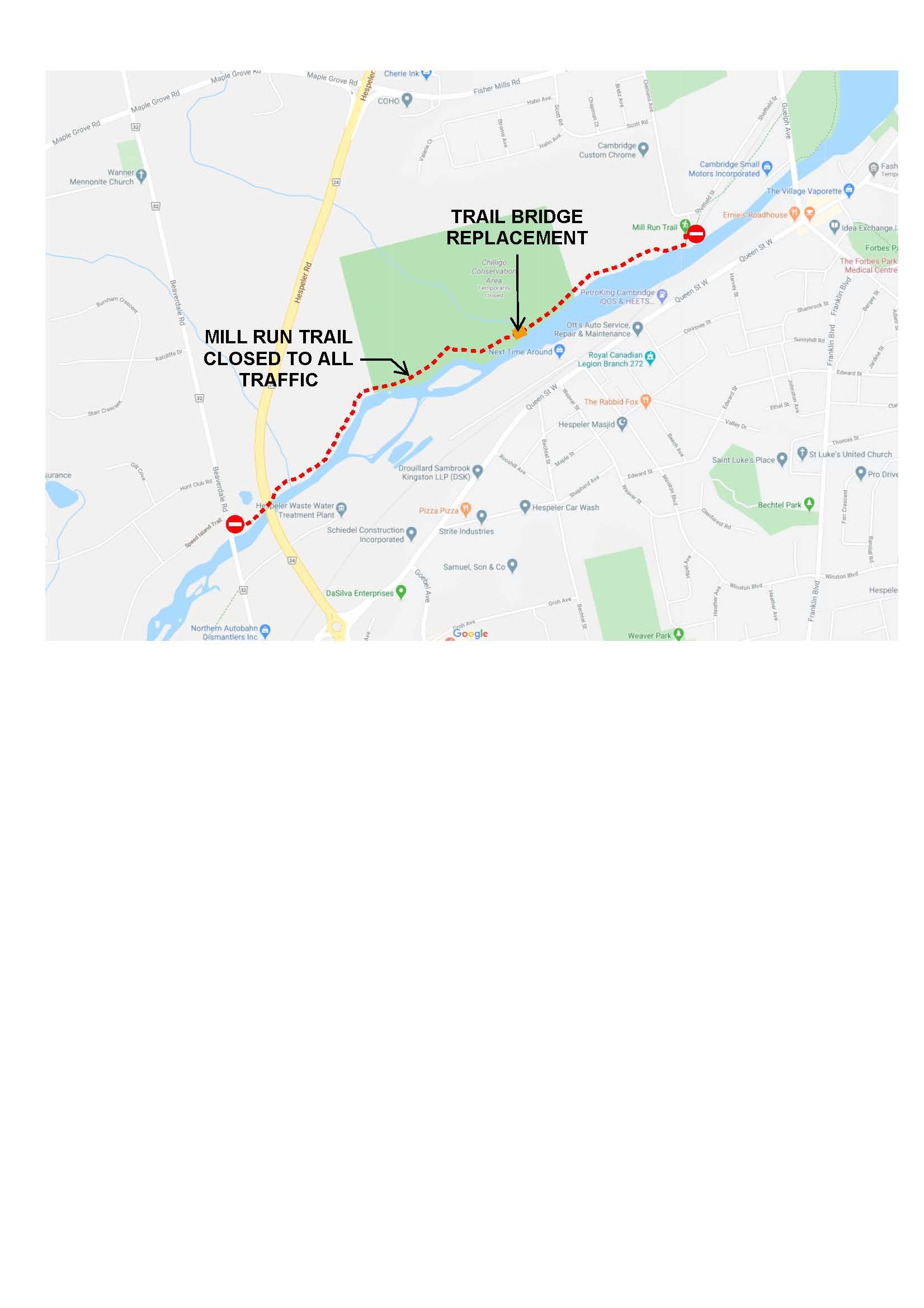 Mill Run Trail closure