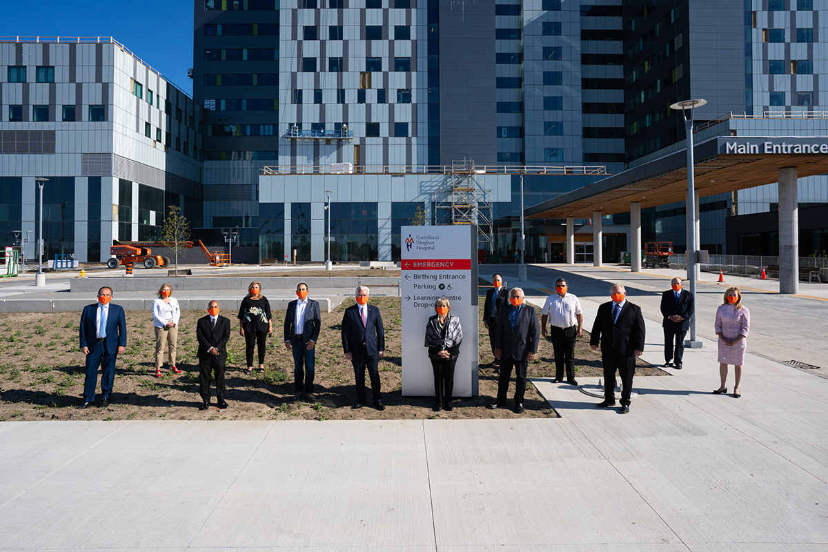Cortellucci Vaughan Hospital launch photo