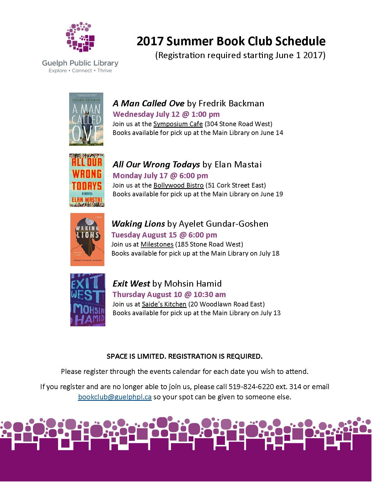 2017 Adult Summer Book Clubs