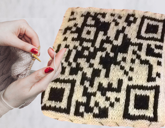 knitted QR code