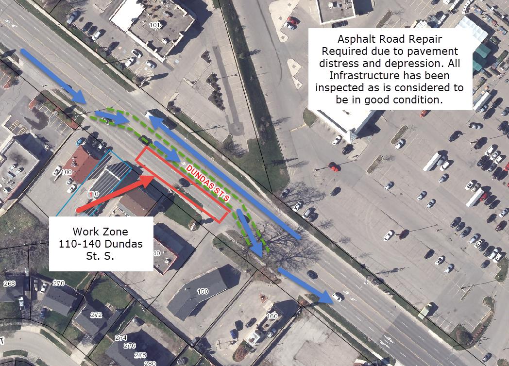 110 Dundas St S. - Road Repair
