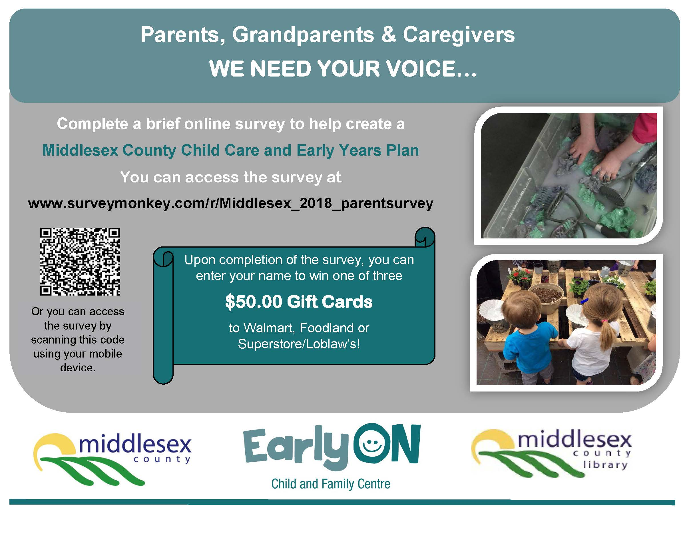 Middlesex Child Care and Early Years Plan Survey Promotion