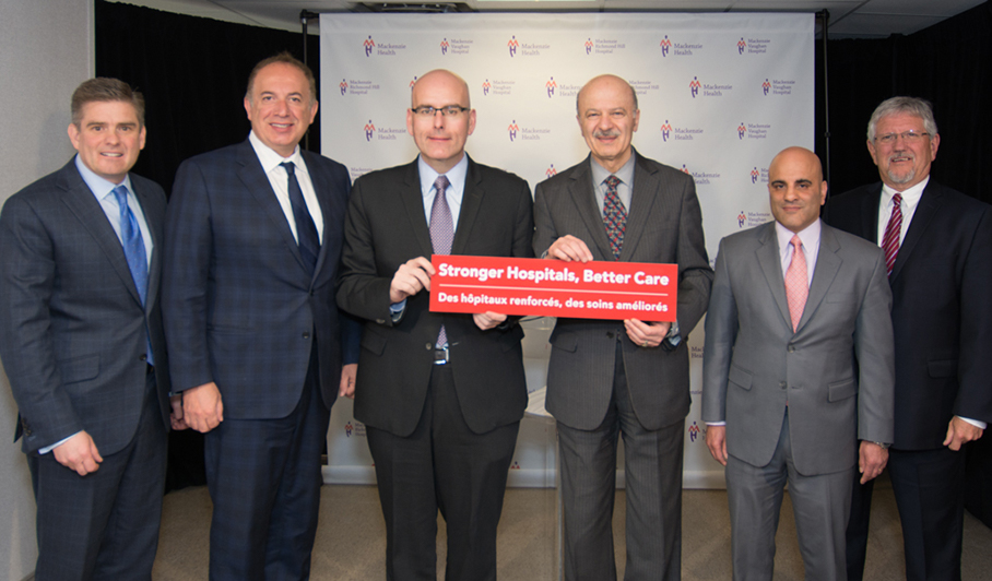 Mackenzie Health funding announcement photo with hospital and government leaders