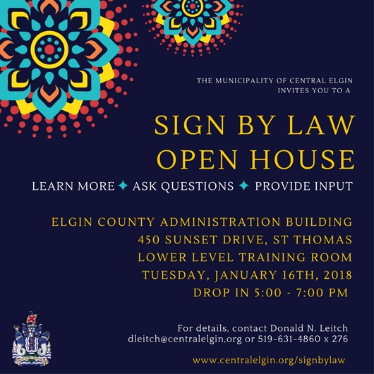 Sign By-law Open House Invitation