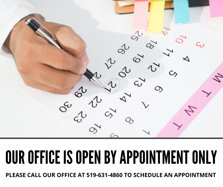 Office Open By Appointment Only
