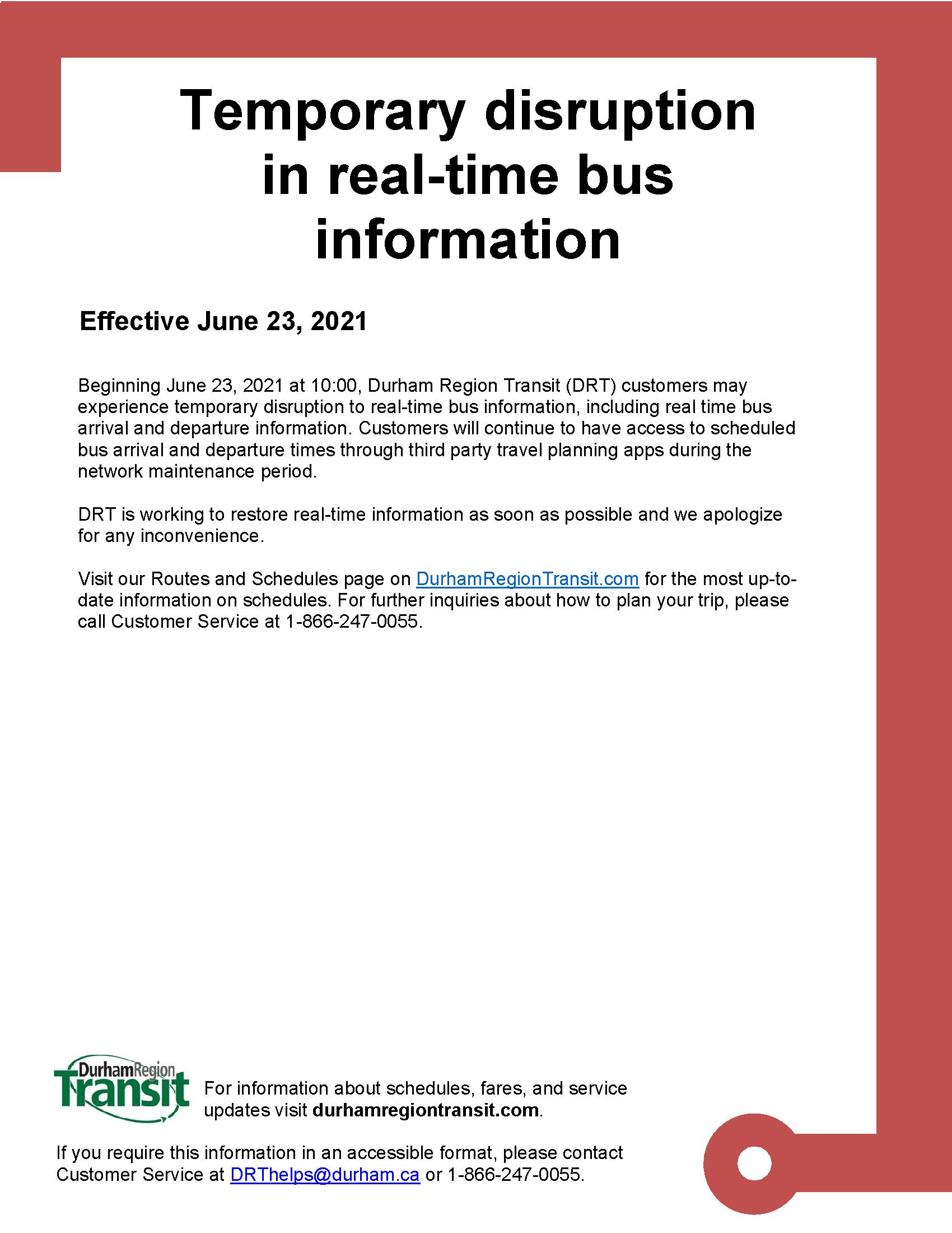 Temporary network maintenance to Transit App - June 23