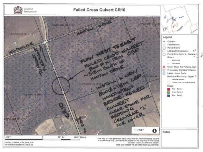 CR10 Culvert Location