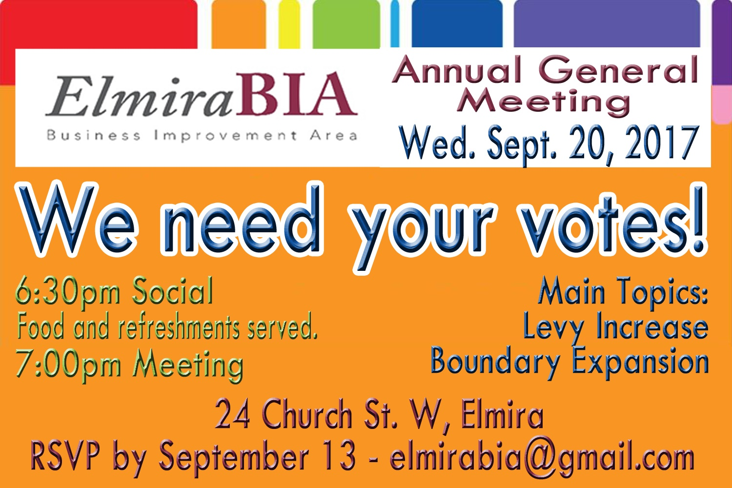 Elmira BIA Annual General Meeting Invitation