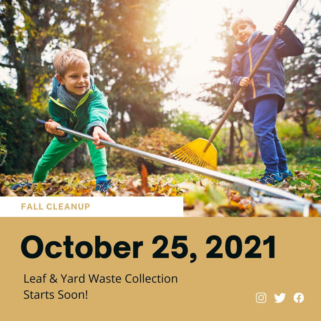 Leaf and Yard Waste Collection 2021 Fall Starting Soon