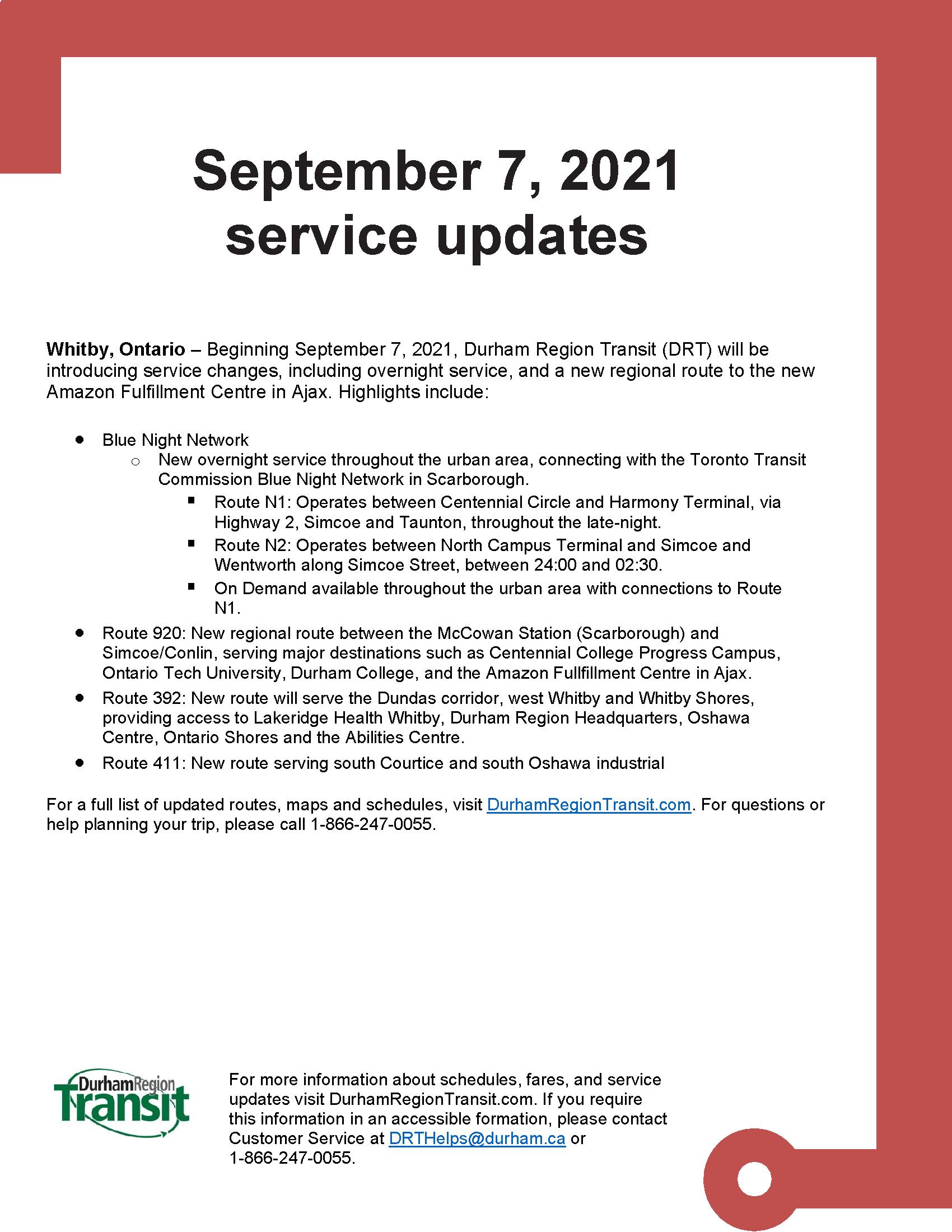 September 7 Service Changes_final