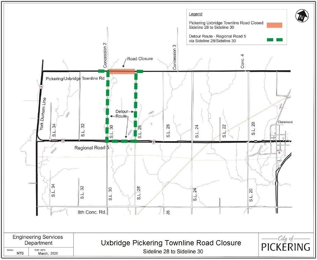 Road Closure Location Map