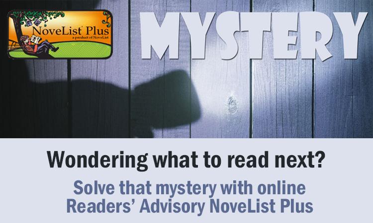 NoveList and flashlight shining on the world mystery