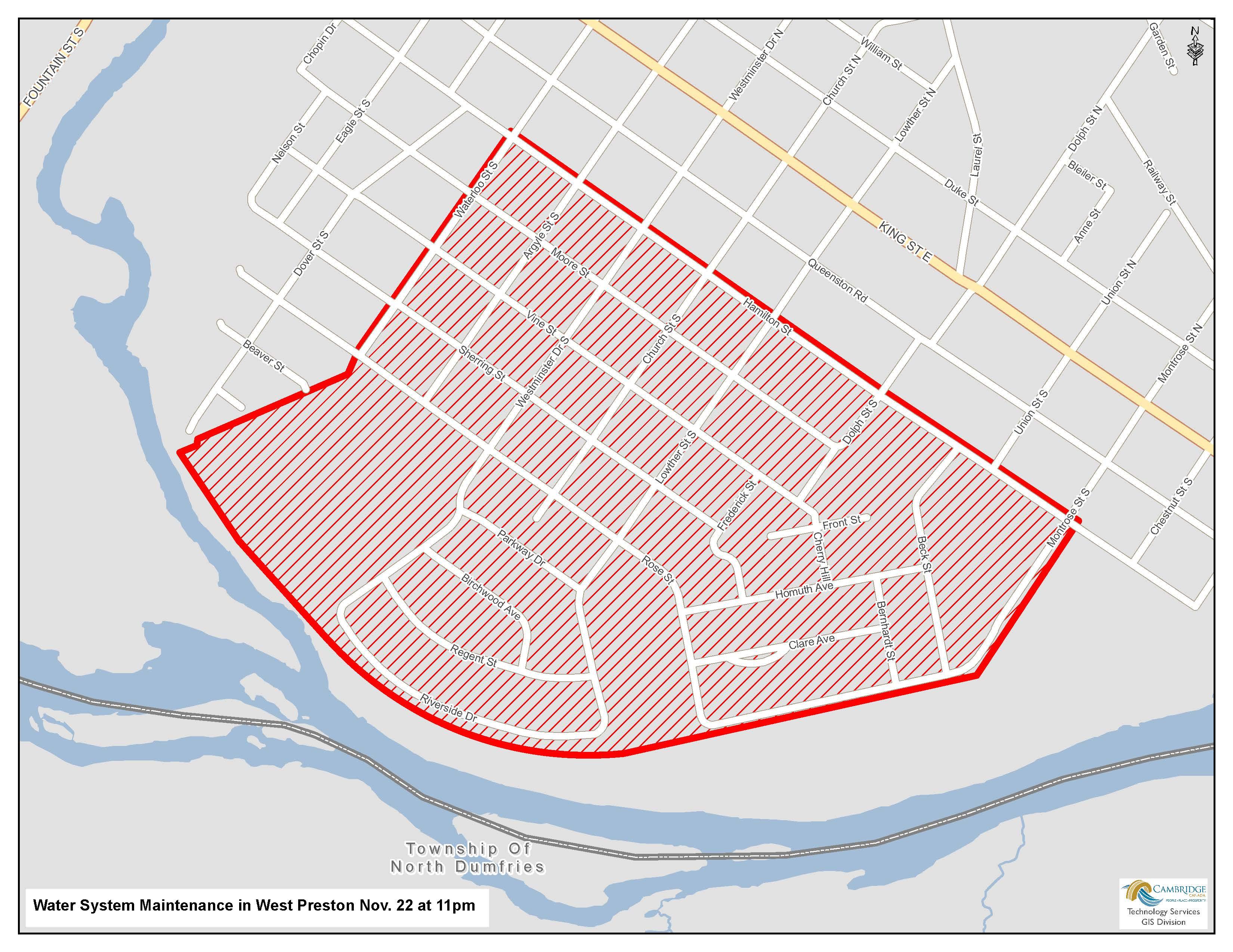 West Preston affected area