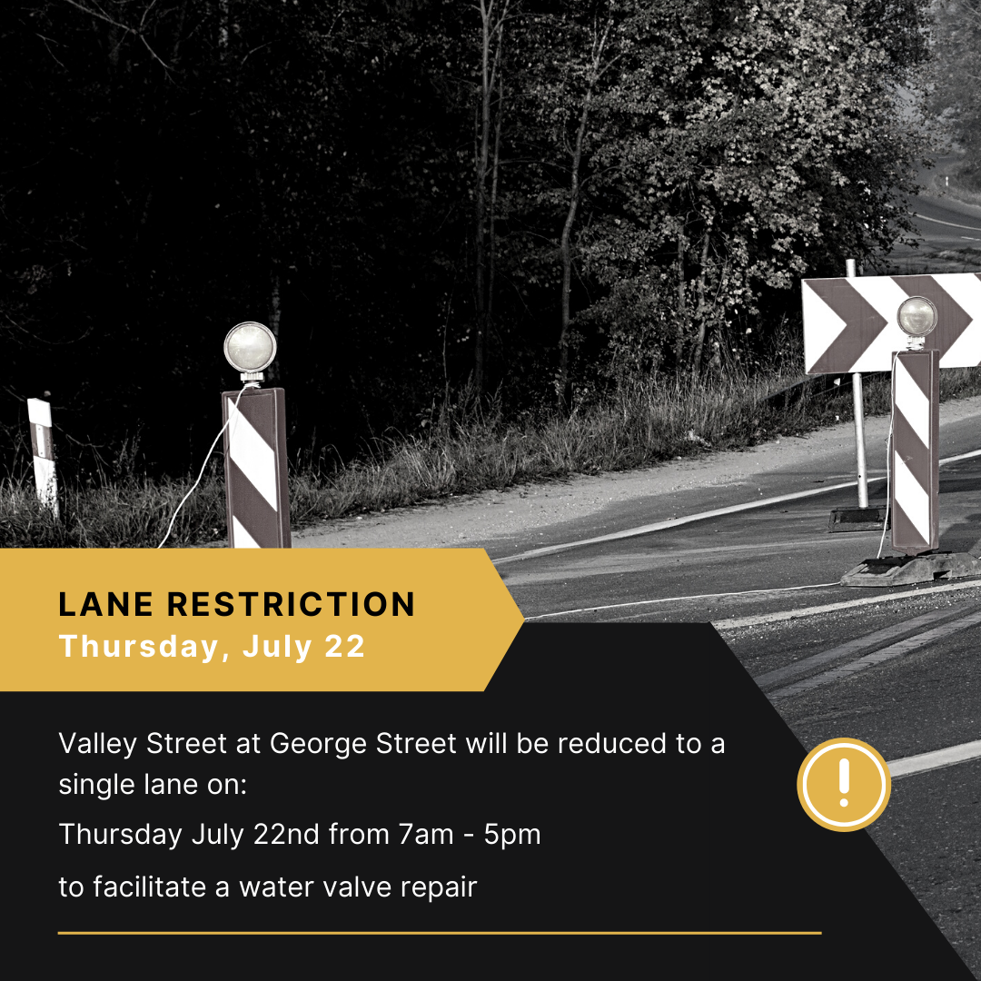 lane restriction valley street water valve