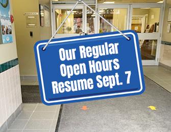 regular open hours resume