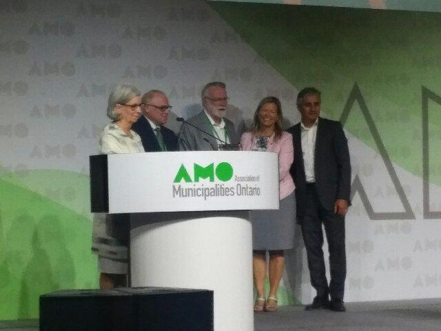 Accepting AMO award