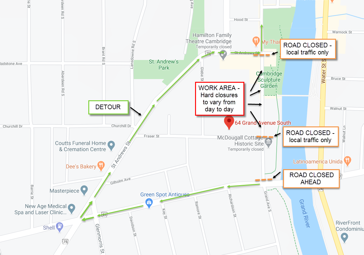 Grand Avenue South Closure July - Phase 2