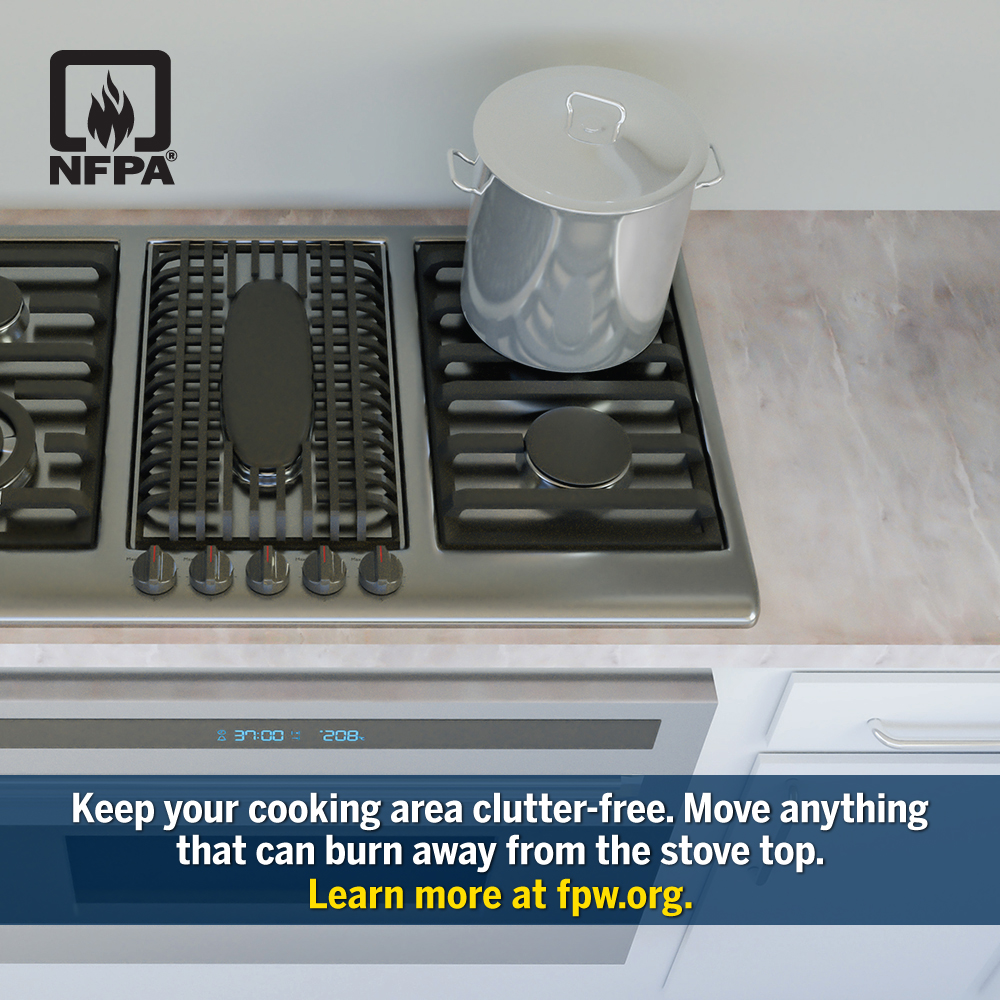 Fire Prevention Week - Clutter Free Cooking Area