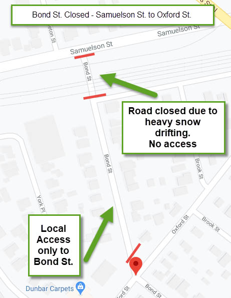 Bond Street Closure