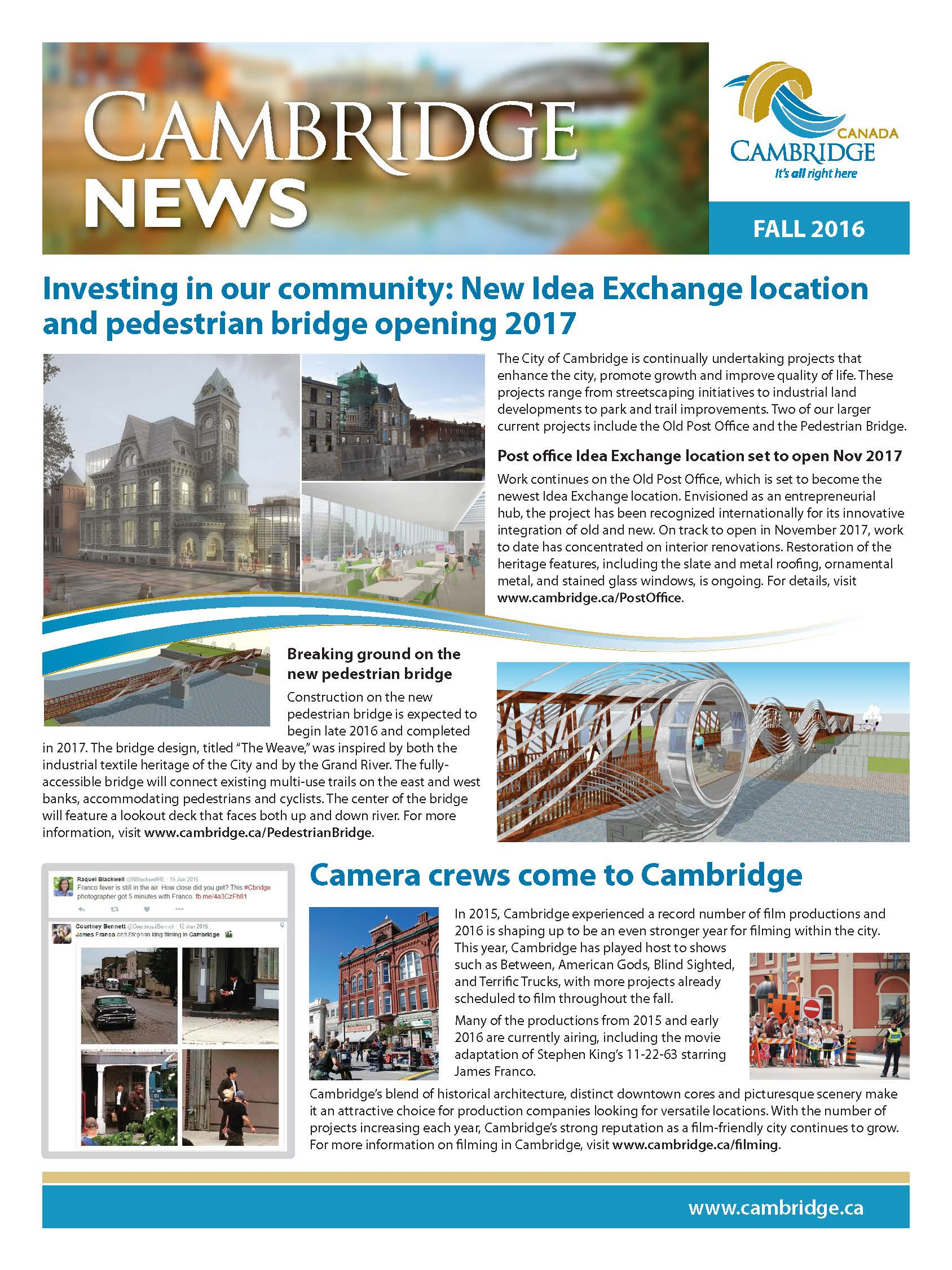 Cover image of Cambridge News Fall 2016