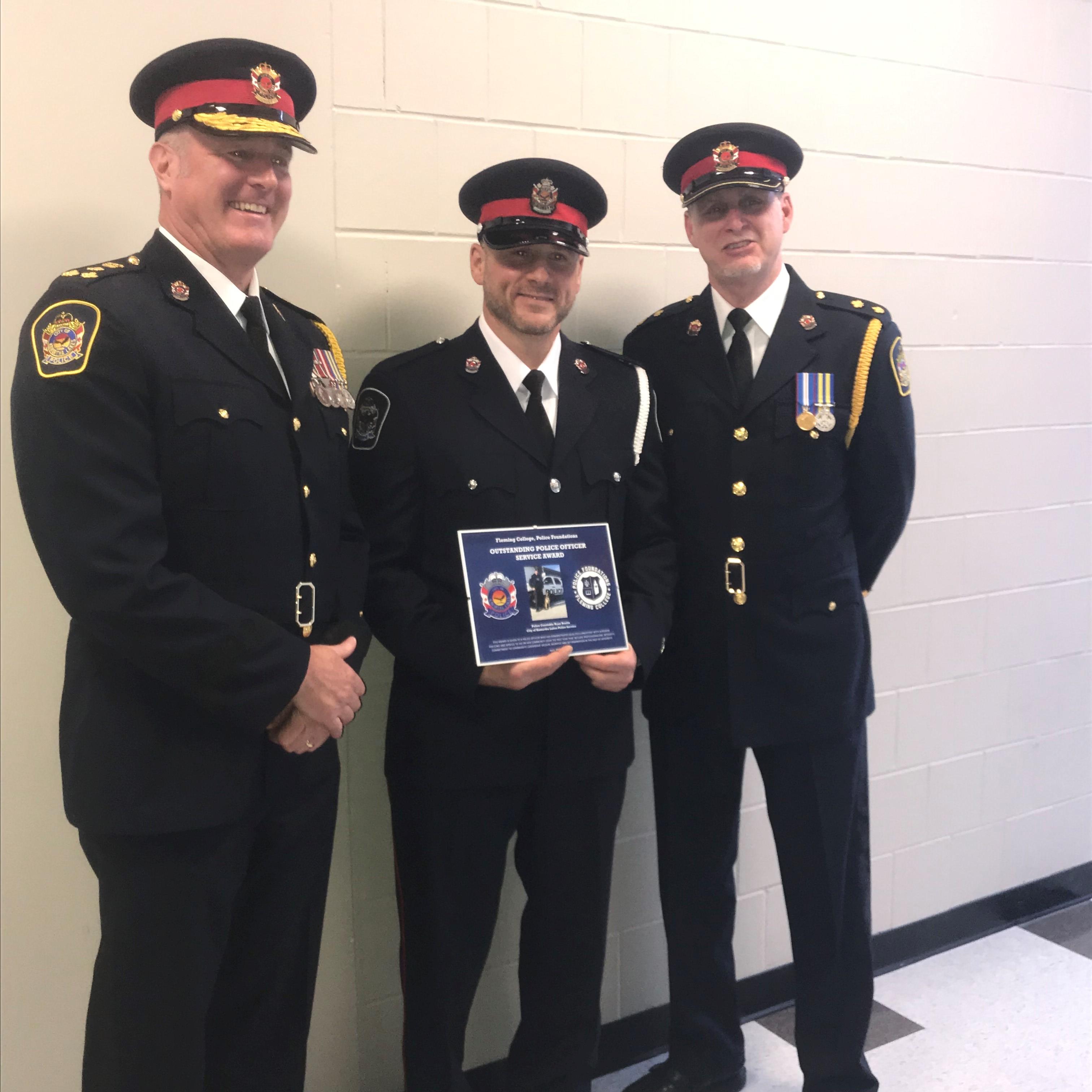 Constable Boutin getting award