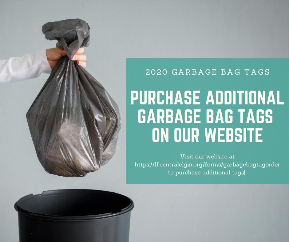 Additional 2020 Garbage Bag Tags
